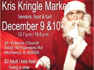 KRIS KRINGLE MARKET, McHenry holiday market, christmas market,