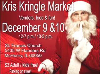 KRIS KRINGLE MARKET, McHenry holiday market, christmas market,